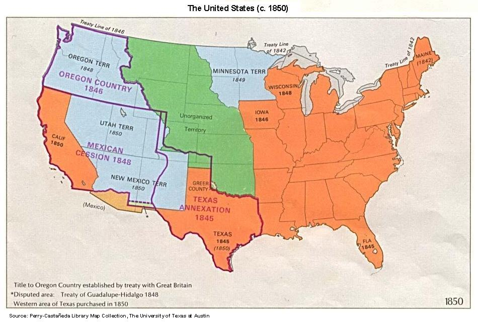 USMapjpg - Map of us in 1823