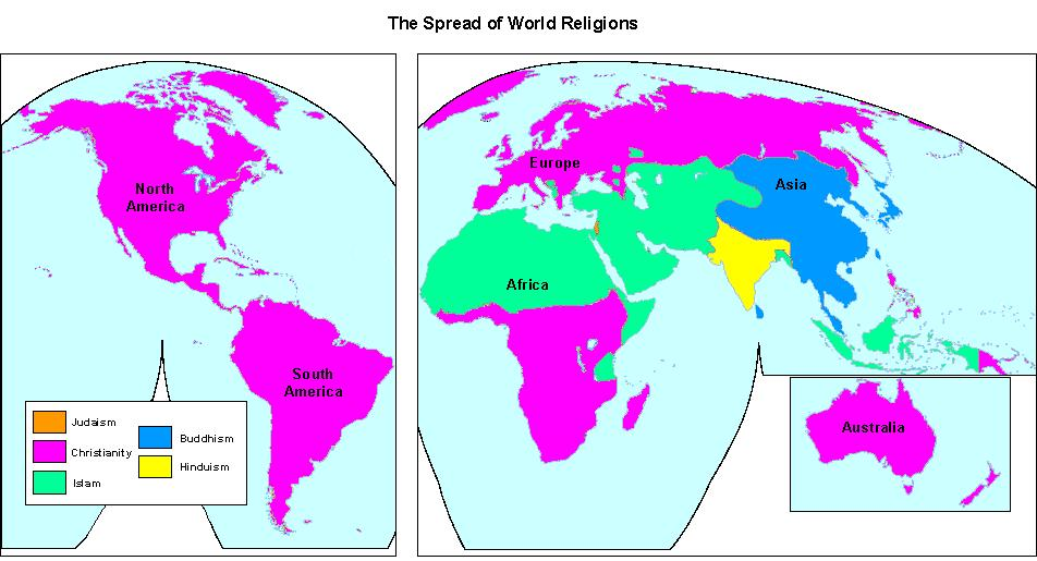 Whmap5g map of world religions gumiabroncs Choice Image